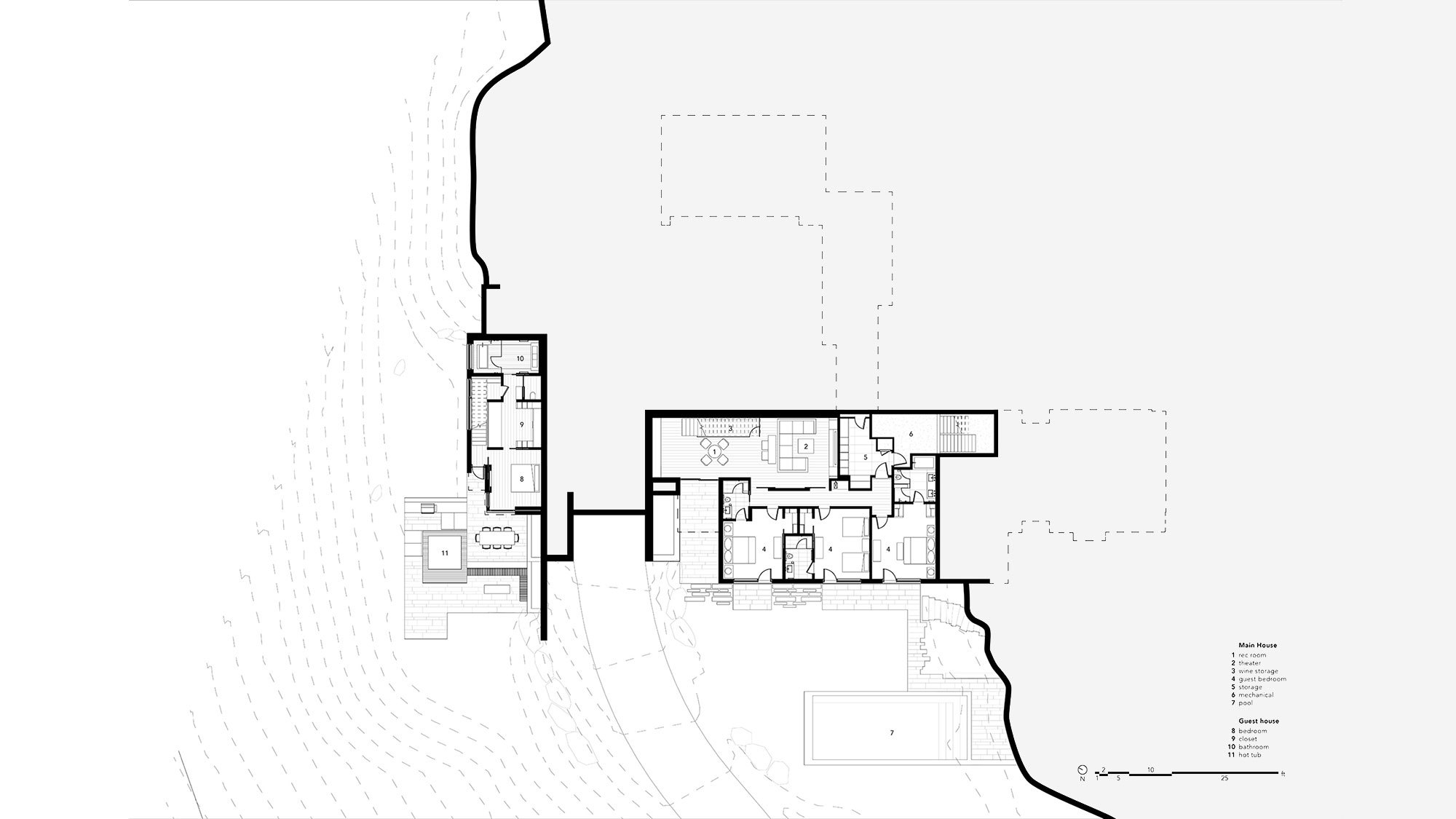 T A G  Lower Level Plan Contained