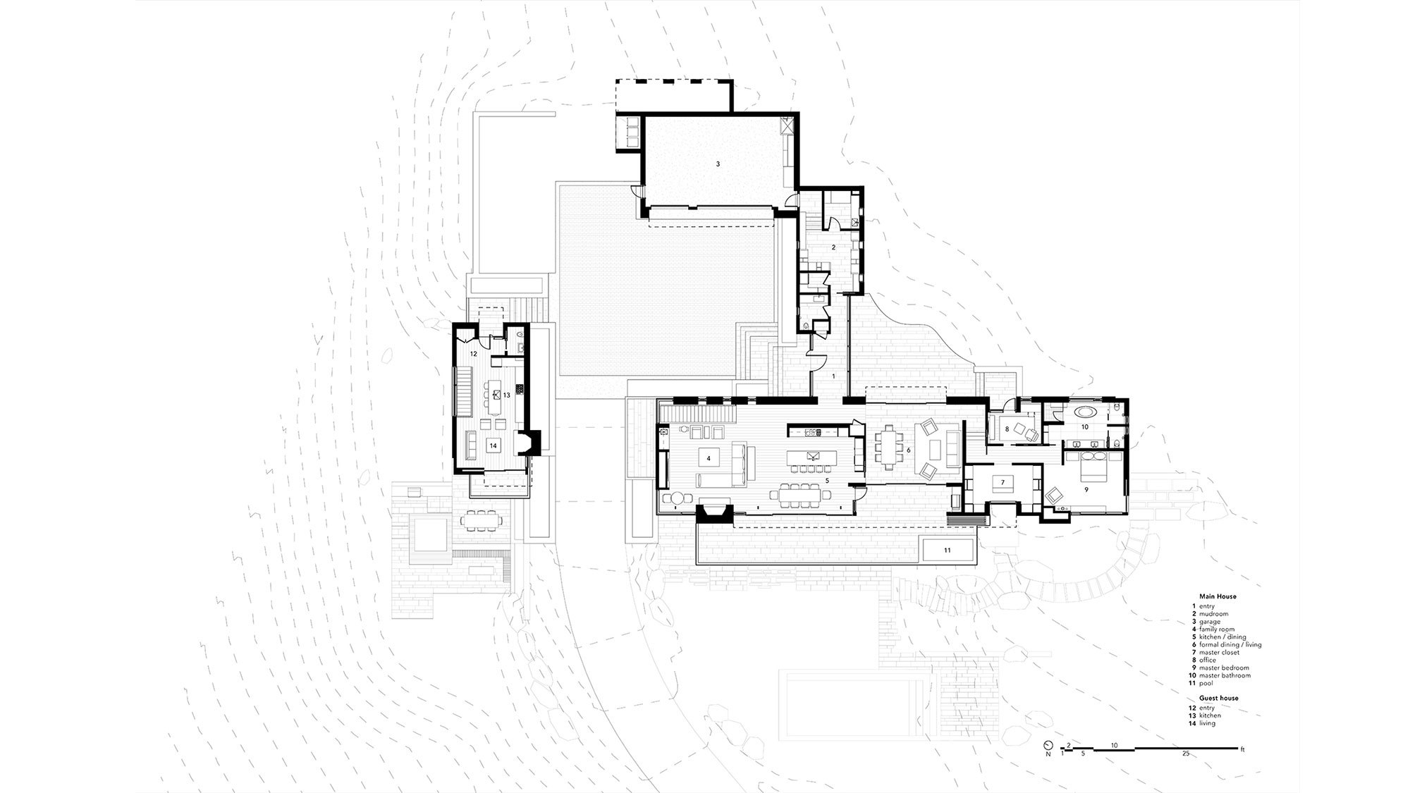 T A G  Main Level Plan Contained
