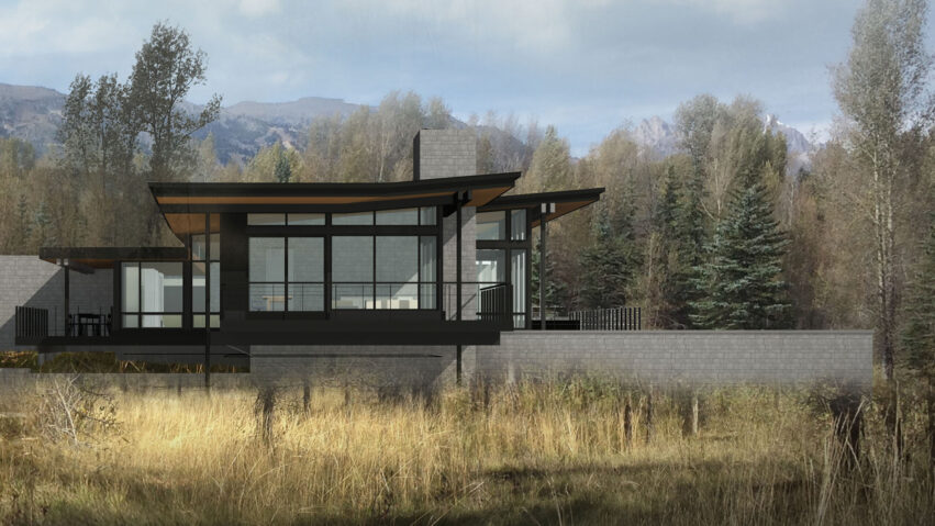 Snake River_custom home in Jackson Hole, Wyoming